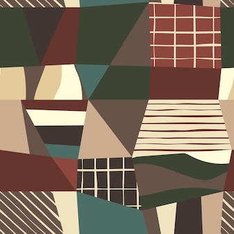Zeitgenössisches abstraktes nahtloses muster. kreatives gekritzel. moderne vektorillustration