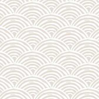 Zeitgenössisches nahtloses muster mit abstrakter linie in nackten farben.