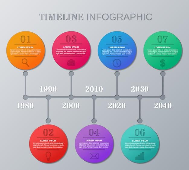 Zeitleiste für infografiken. infografik-elemente.