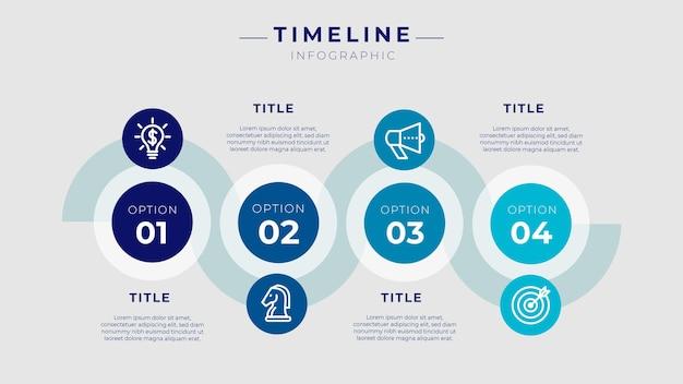 Zeitleiste für infografiken