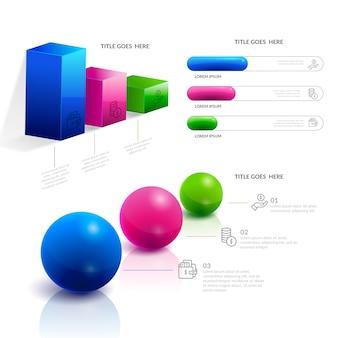 Zeitleiste infografik im realistischen stil