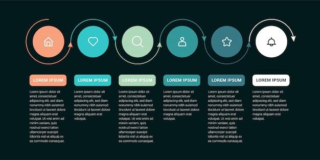 Zeitleiste infografik verarbeiten