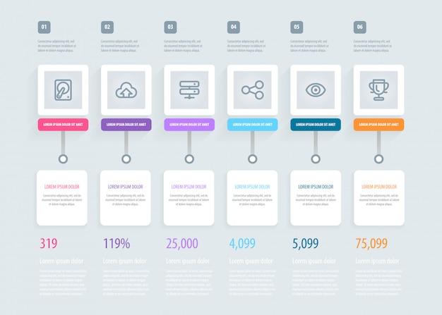 Zeitleiste infografik.
