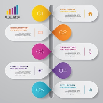Zeitleiste infografiken element