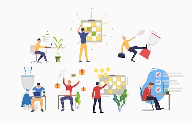 Zeitmanagement-aktivitäten