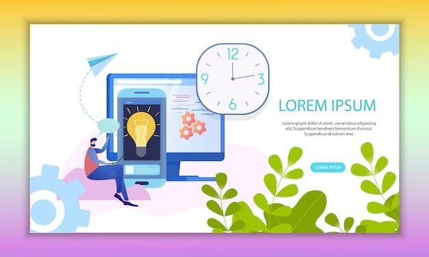 Zeitmanagement-analyse inspirierende ideen-banner