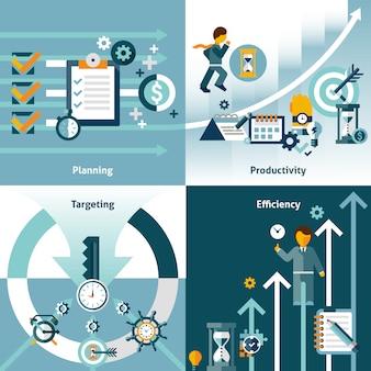 Zeitmanagement flache elemente zusammensetzung