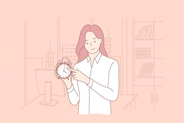 Zeitmanagement, geschäftskonzept