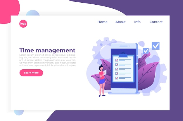 Zeitmanagement-konzept, business scheduling app.