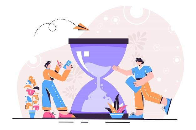 Zeitmanagement-konzept
