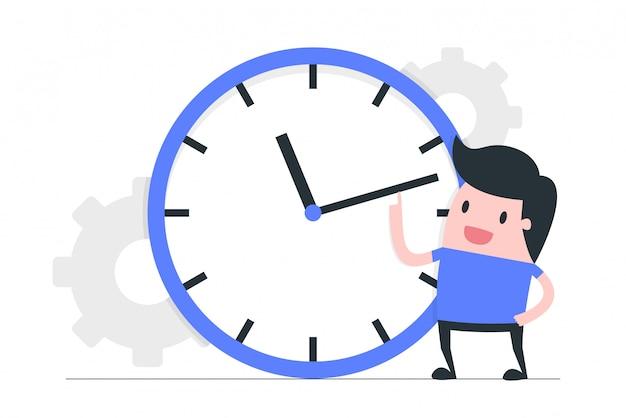 Zeitmanagement-konzeptillustration. Premium Vektoren