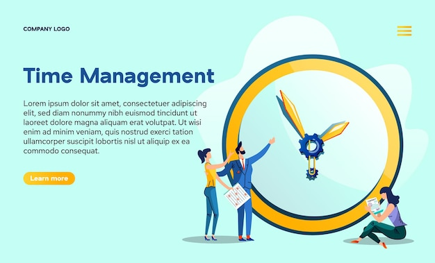 Zeitmanagement-landingpage