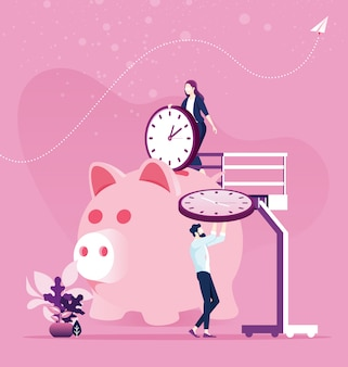 Zeitmanagement-planung. sparen sie zeit konzept
