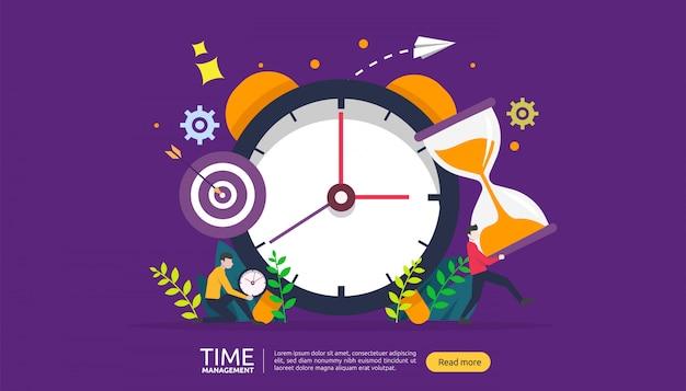 Zeitmanagement und aufschubkonzept. planung und strategie für business banner