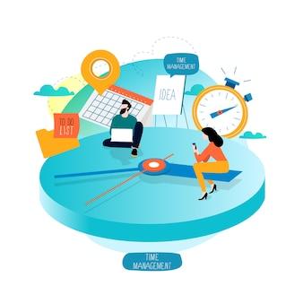 Zeitmanagement- und planungsereignisse