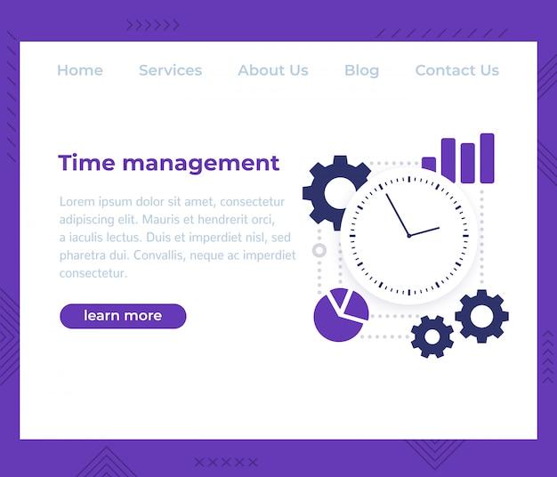 Zeitmanagement, website-vorlage