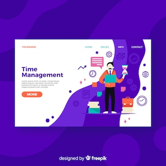 Zeitmanagement-zielseite