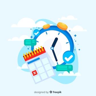 Zeitmanagementkonzept für zielseite
