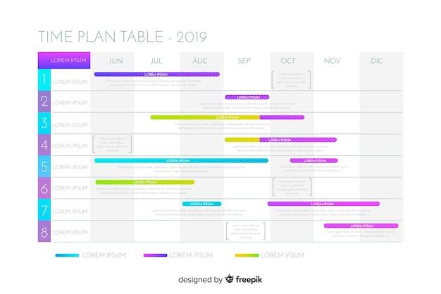 Zeitplan-tabelle