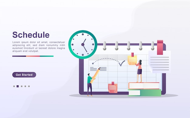 Zeitplan- und planungskonzept, erstellung eines persönlichen studienplans, geschäftszeitplanung, ereignisse und nachrichten, erinnerung und zeitplan.
