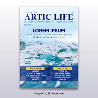 Zeitschrift mit arktischem konzept
