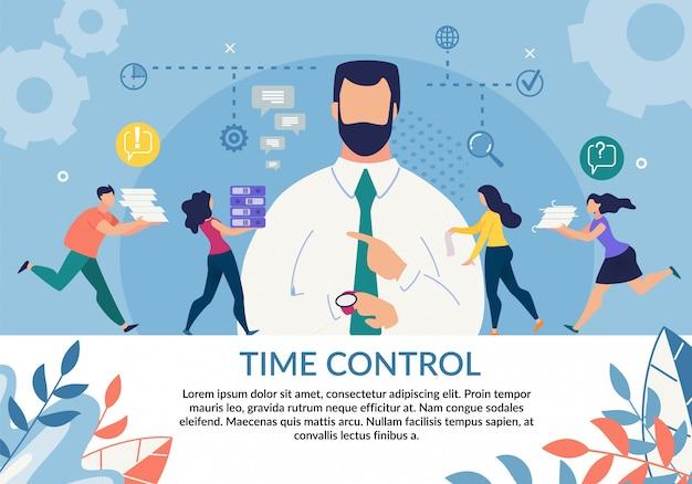 Zeitsteuerung wichtigkeit motivation flache vorlage