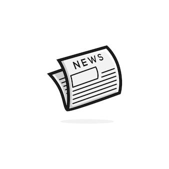 Zeitungsvektorillustrationslogo-ikonen clipart