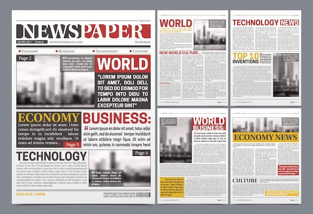 Zeitungsvorlage realistisches plakat