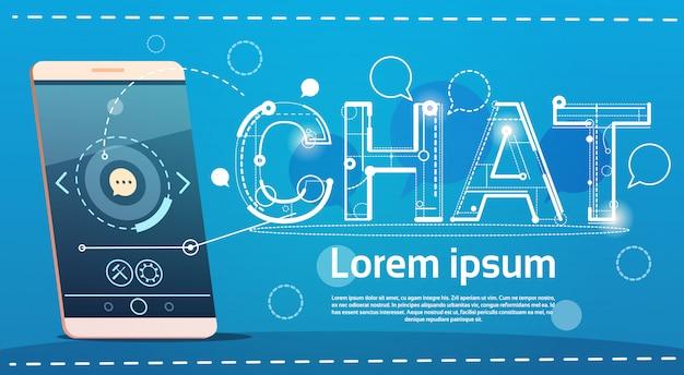 Zell-intelligentes telefon-chat-soziales netz-kommunikations-konzept