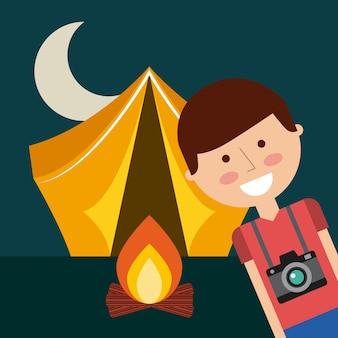 Zelt camping-design