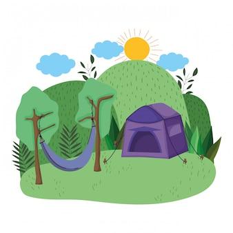 Zelt und camping