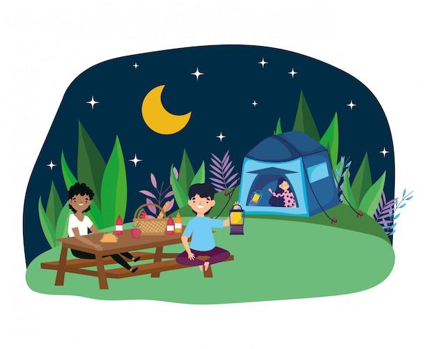 Zelt und leute