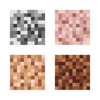 Zensiertes zeichen von pixelunschärfe verschwommener effekt zum schutz von gesicht und körper auf einem foto und video