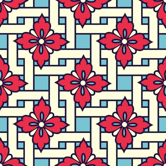 Zentangle-art geometrisches verzierungsmuster Kostenlosen Vektoren