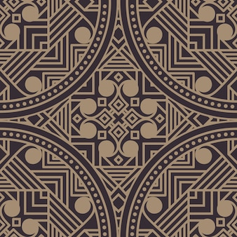 Zentangle gestaltete geometrische illustration