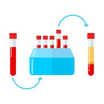Zentrifuge zur herstellung von plasma in der mesotherapie