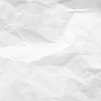 Zerknitterte papierstruktur. weißes leeres zerknittertes papier.
