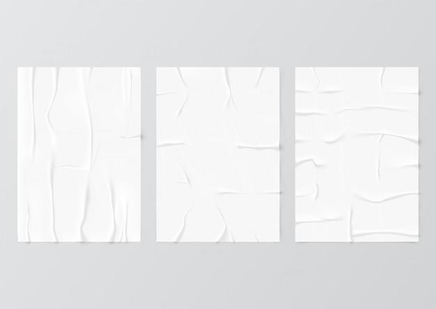 Zerknittertes leeres papier