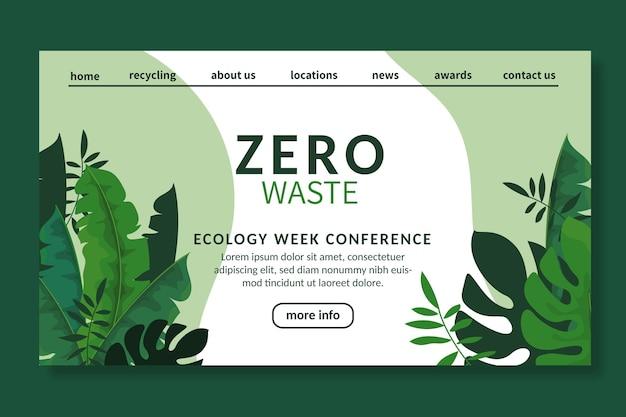 Zero waste ad landing page vorlage