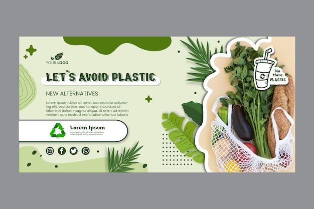 Zero waste bannervorlage