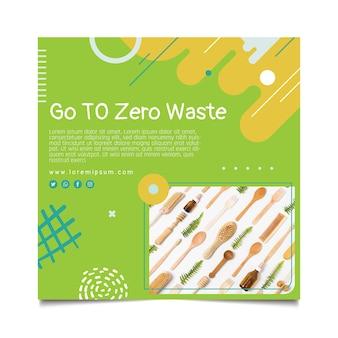 Zero waste flyer quadratische vorlage