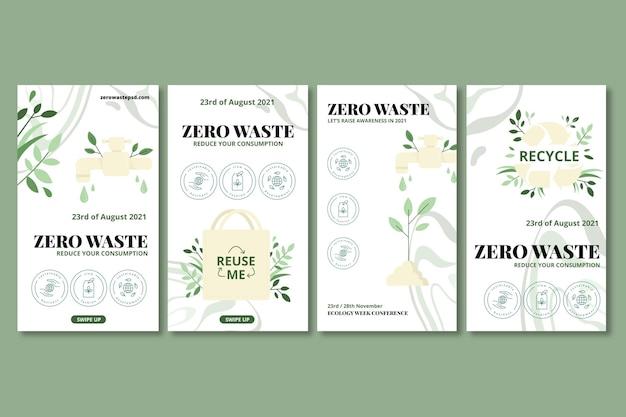 Zero waste instagram-geschichten