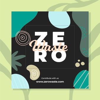 Zero waste instagram post vorlage