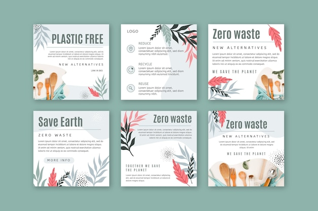 Zero waste instagram posts