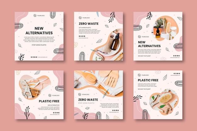 Zero waste instagram-posts