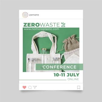 Zero waste instagram story-konzept