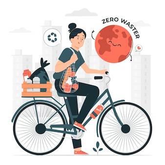 Zero waste konzept illustration