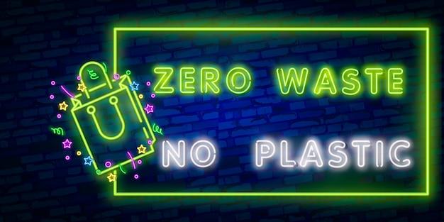 Zero waste neon text
