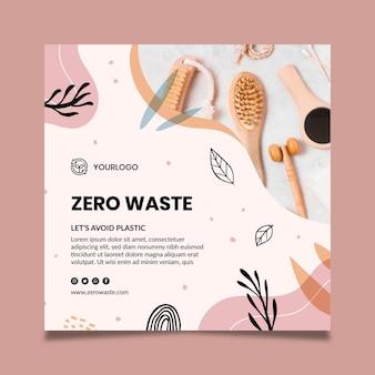 Zero waste quadratische flyer vorlage