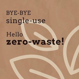 Zero waste social media template im erdton